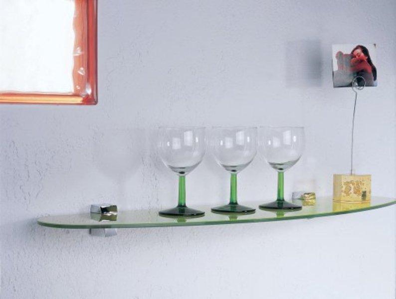 Support pour tag re et tablette en verre for Tablette en verre pour cuisine