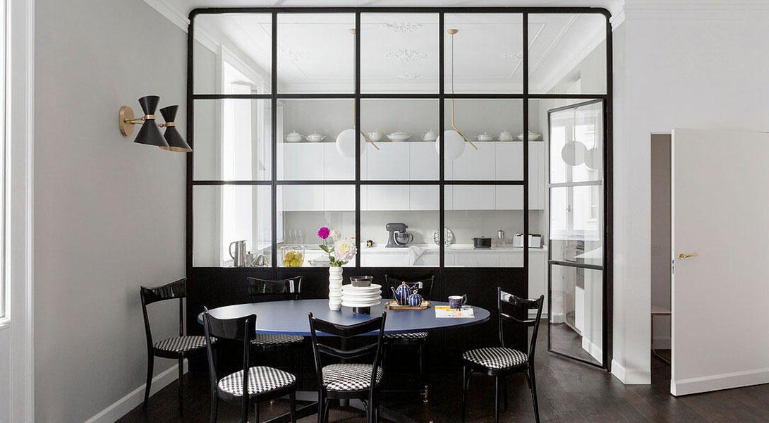 Cloison en verre : séparez votre cuisine en toute transparence!