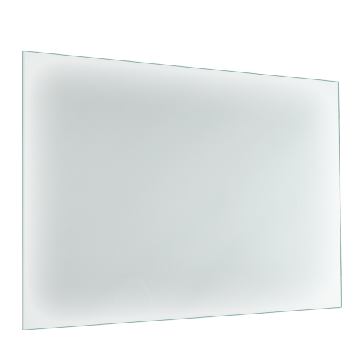 Cr dence de cuisine en verre blanc avec cadre aluminium for Credence verre trempe blanc