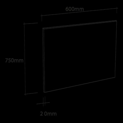 Cr dence de cuisine en verre noir avec cadre aluminium for Credence en verre transparent cuisine
