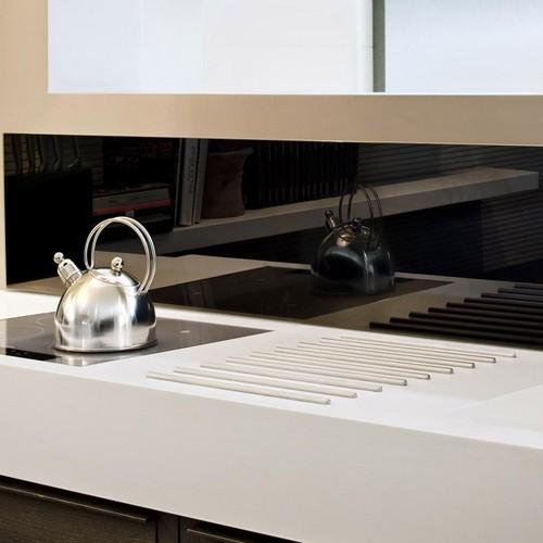 Cr dence de cuisine et fond de hotte en verre sur mesure - Credence en verre trempe pour cuisine ...