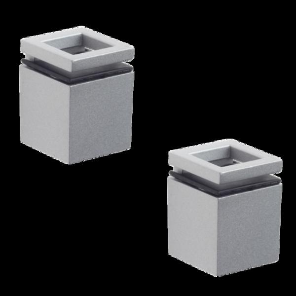 support pour tablette en verre cube. Black Bedroom Furniture Sets. Home Design Ideas