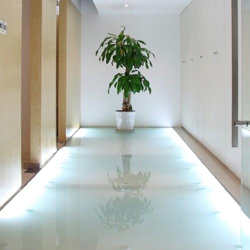 Dalle en verre translucide