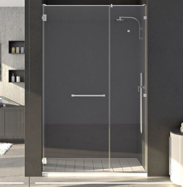 porte et paroi de douche en verre. Black Bedroom Furniture Sets. Home Design Ideas