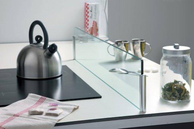 Cr dence en verre pour lot de cuisine for Ilot centrale pour petite cuisine