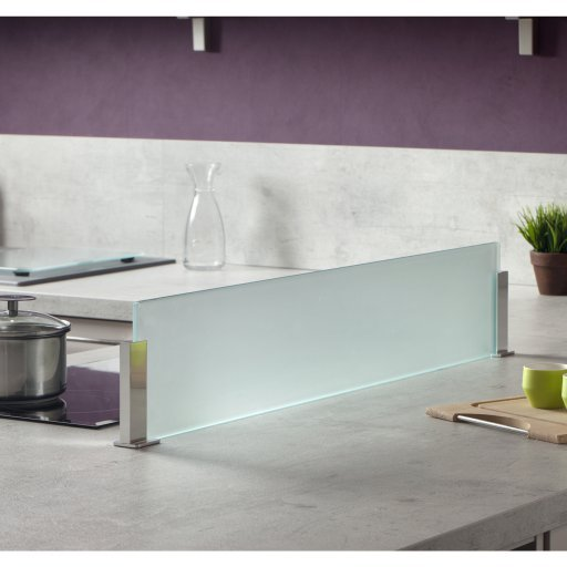 Cr dence en verre satin pour lot de cuisine sans per age - Tableau en verre pour cuisine ...