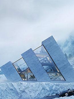 Maison en verre : quand des logos de marques inspirent les architectes