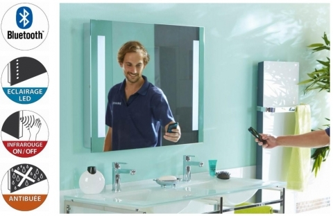 Miroir Bluetooth Avec Lumire LED