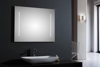 Miroir de salle de bain clairage led for Eclairage led sdb