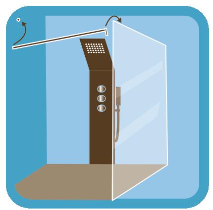 amazing dun pare douche en verre sur mesure with pare baignoire sans percer. Black Bedroom Furniture Sets. Home Design Ideas