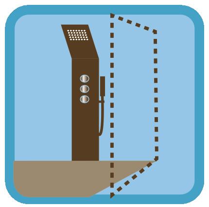 Plan d'instalation d'un pare douche en verre fixe