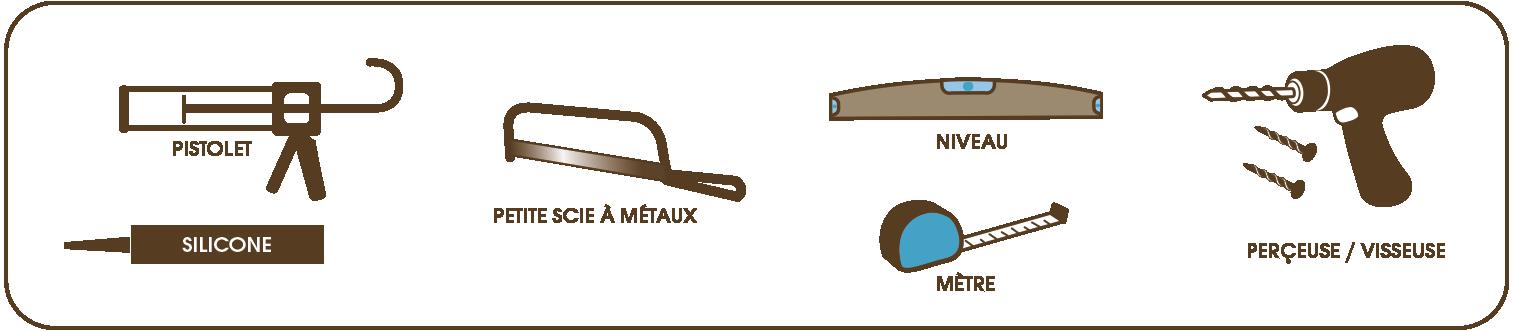 Plan d'installation d'un paroi de douche en verre sur mesure