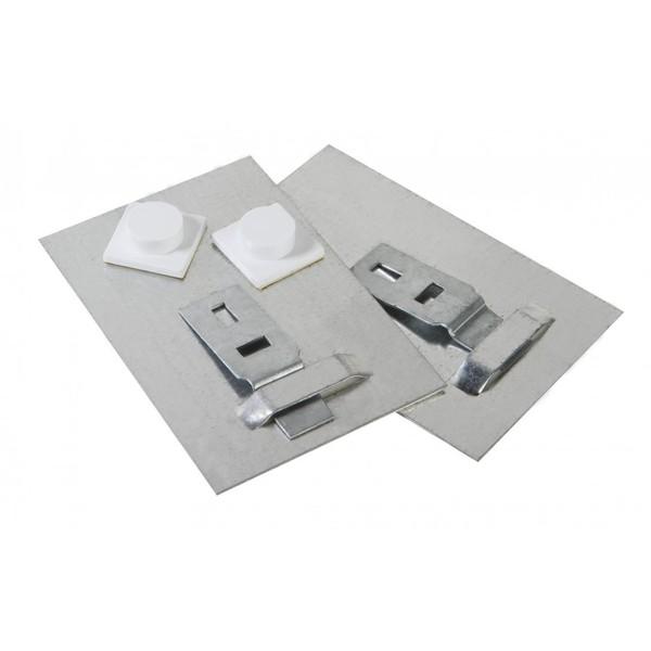 Plaques de fixation adh sive pour miroir for Plaque de metal adhesive