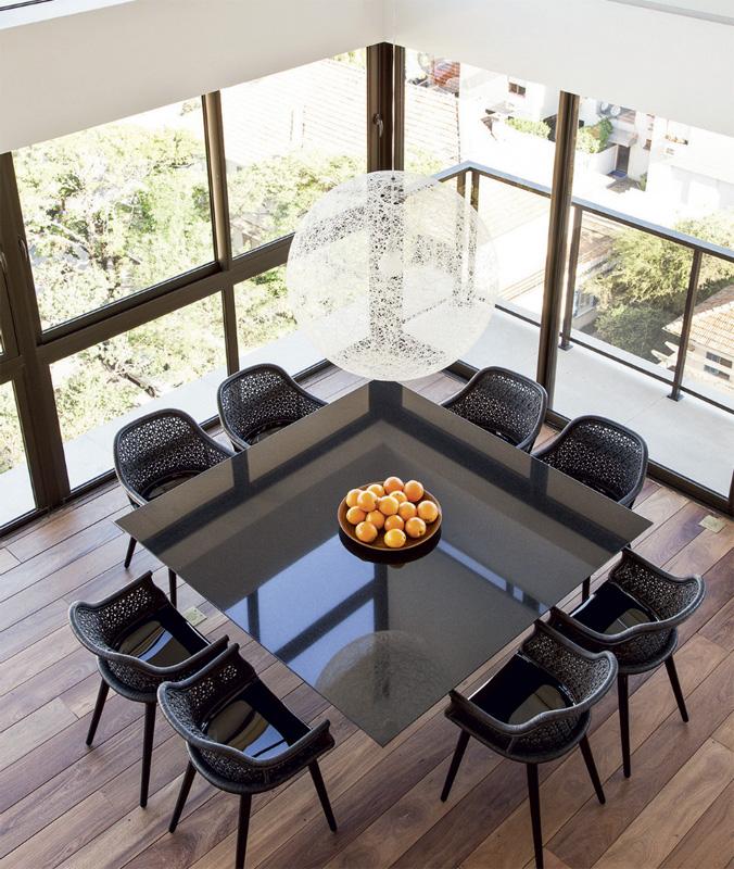 Plateau de table en verre sur mesure