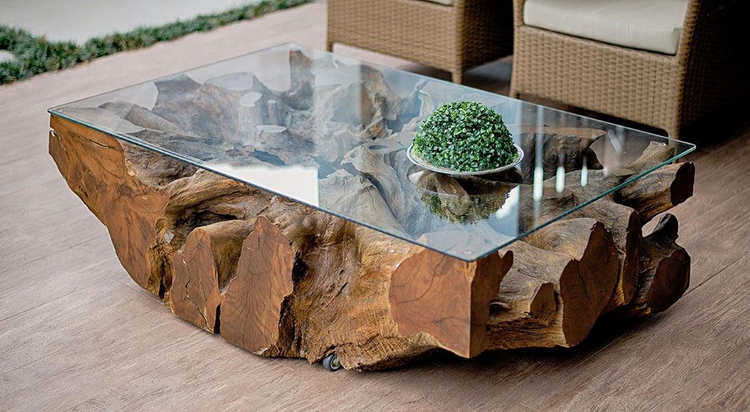 Tendance 2021 : la table en verre et en bois s'invite dans votre salon !