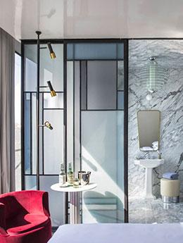 Verrière de style Mondrian : le nec plus ultra des pièces Art Déco !