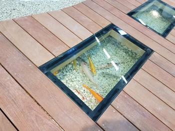 Dalle de sol en verre sur mesure - Concept Paysager