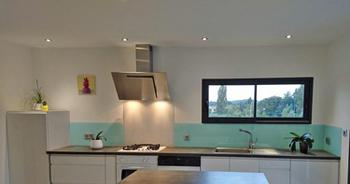 Crédence de cuisine en verre Aqua et verre Securit Blanc intense - Mr Payet (26)