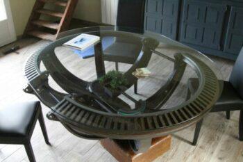 Plateau de table en verre trempé forme ovale chez Henri (80)
