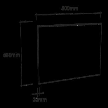 Crédence de cuisine en verre blanc avec cadre aluminium