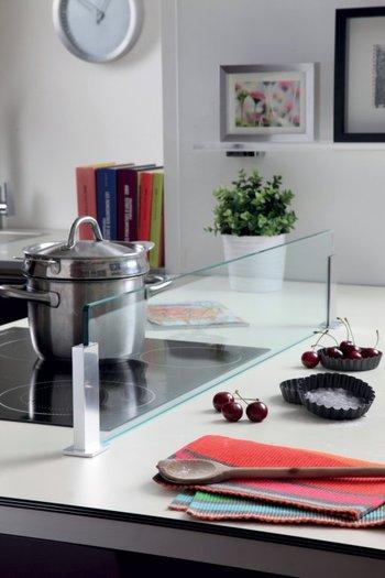 Mini Crédence en verre pour îlot de cuisine (sans perçage)