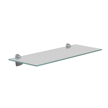 Support pour tag re et tablette en verre - Bureau transparent verre ...