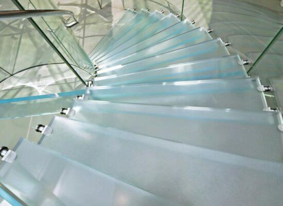 Dalle en verre sur mesure antidérapante