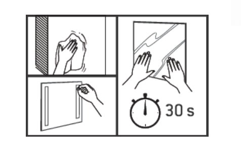 Rouleau adhésif double face pour miroir 4mm