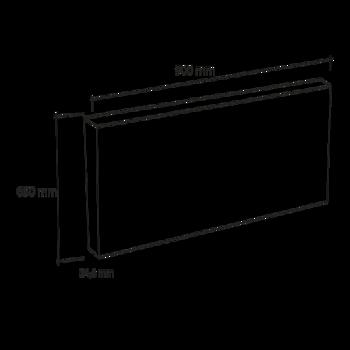 cr dence de cuisine en verre avec lumi re led. Black Bedroom Furniture Sets. Home Design Ideas