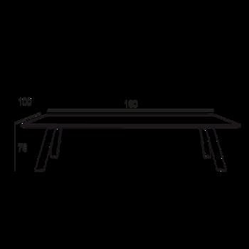 table contemporaine avec plateau en verre. Black Bedroom Furniture Sets. Home Design Ideas
