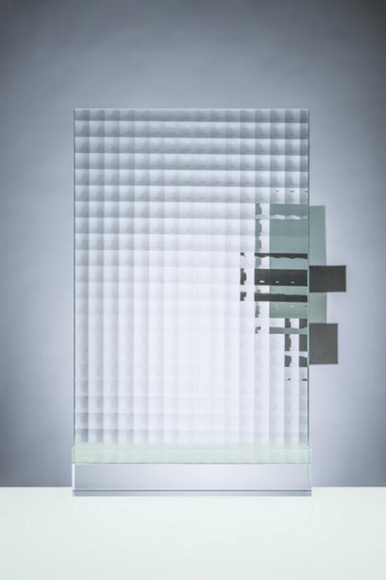Verre texturé listral grands carreaux 4 mm